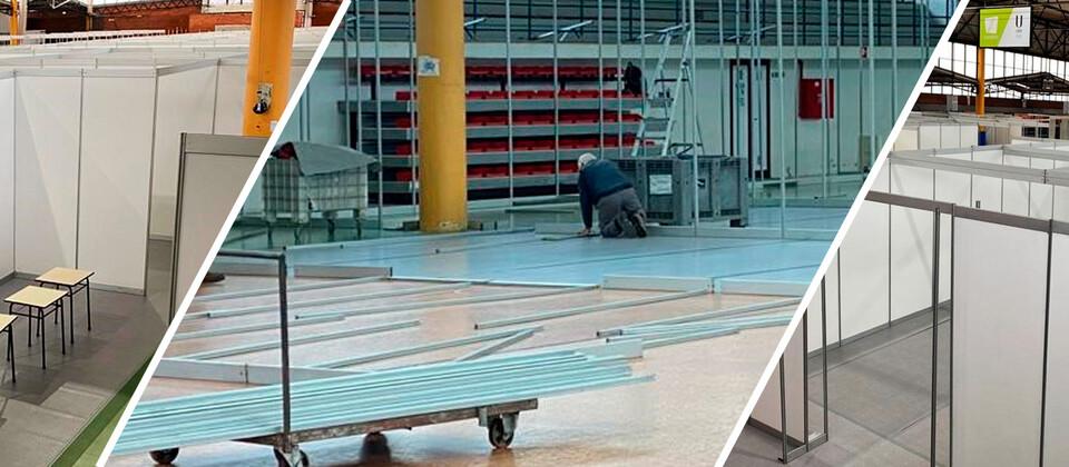 Ativada uma nova estrutura hospitalar no Estádio Universitário