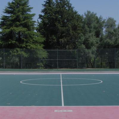 Estádio Universitário - Imagem da parte central do Polidesportivo nº 3, junto à Academia de Fitness